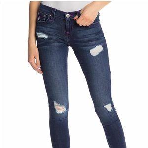 NWT True Religion Super Skinny Distressed Jeans